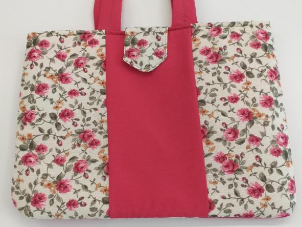 Bolsa Coral Flores.