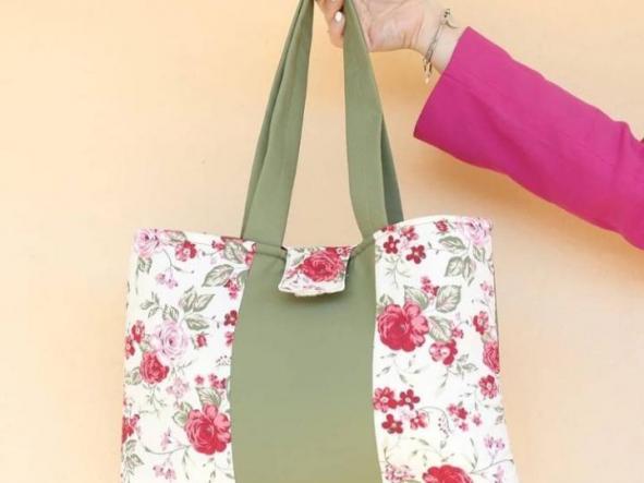 Bolsa Verde de Flores  [0]