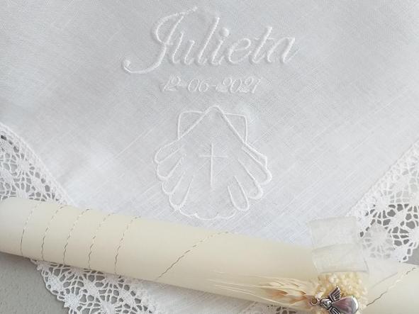 Pañuelo Bautizo blanco.