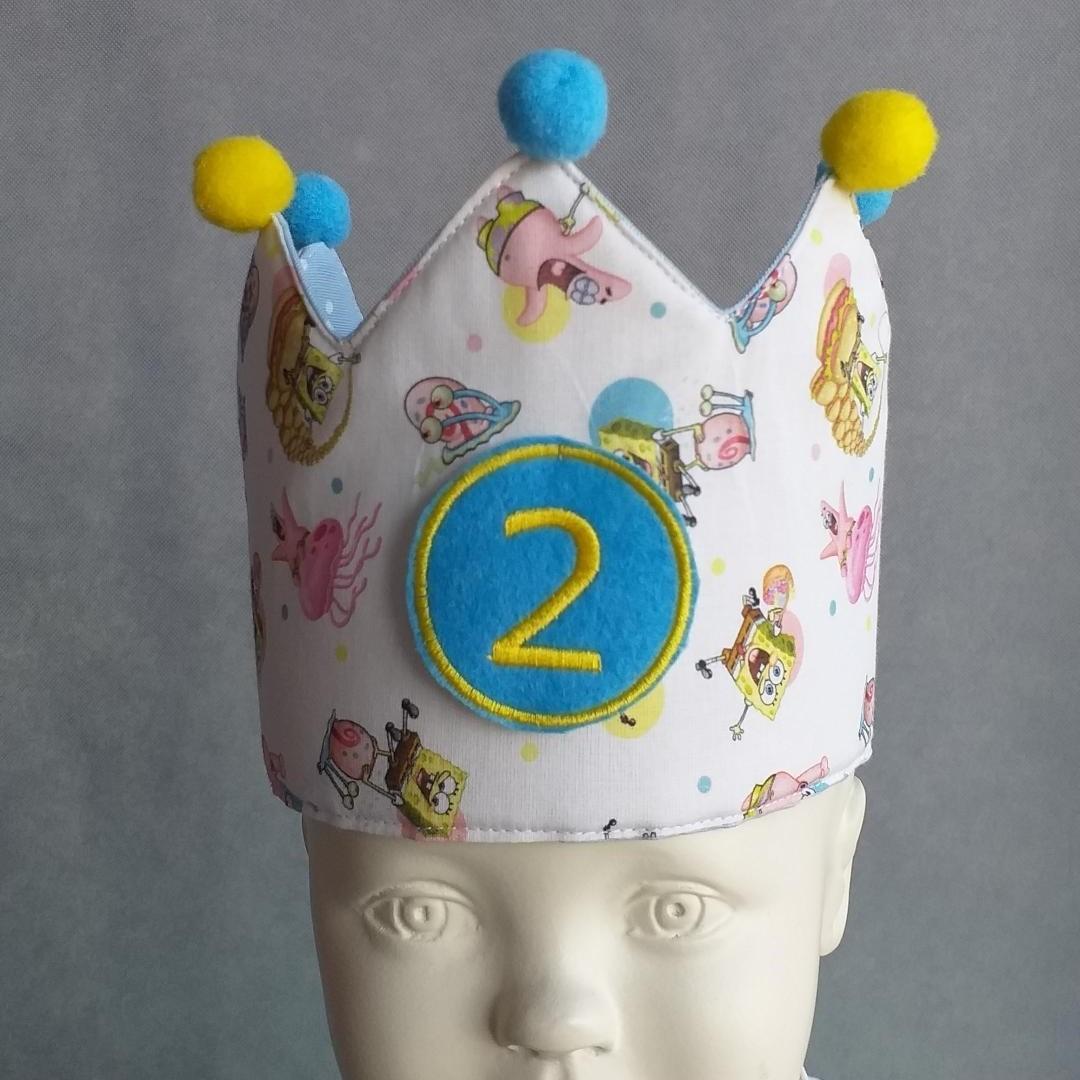 Corona Cumpleaños Bob Esponja.