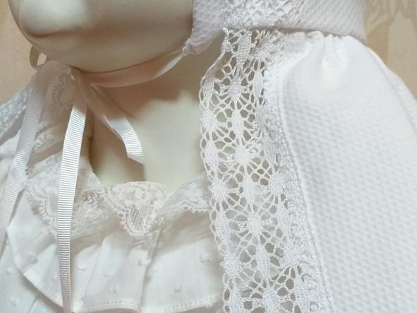Capa Bautizo blanca. [3]