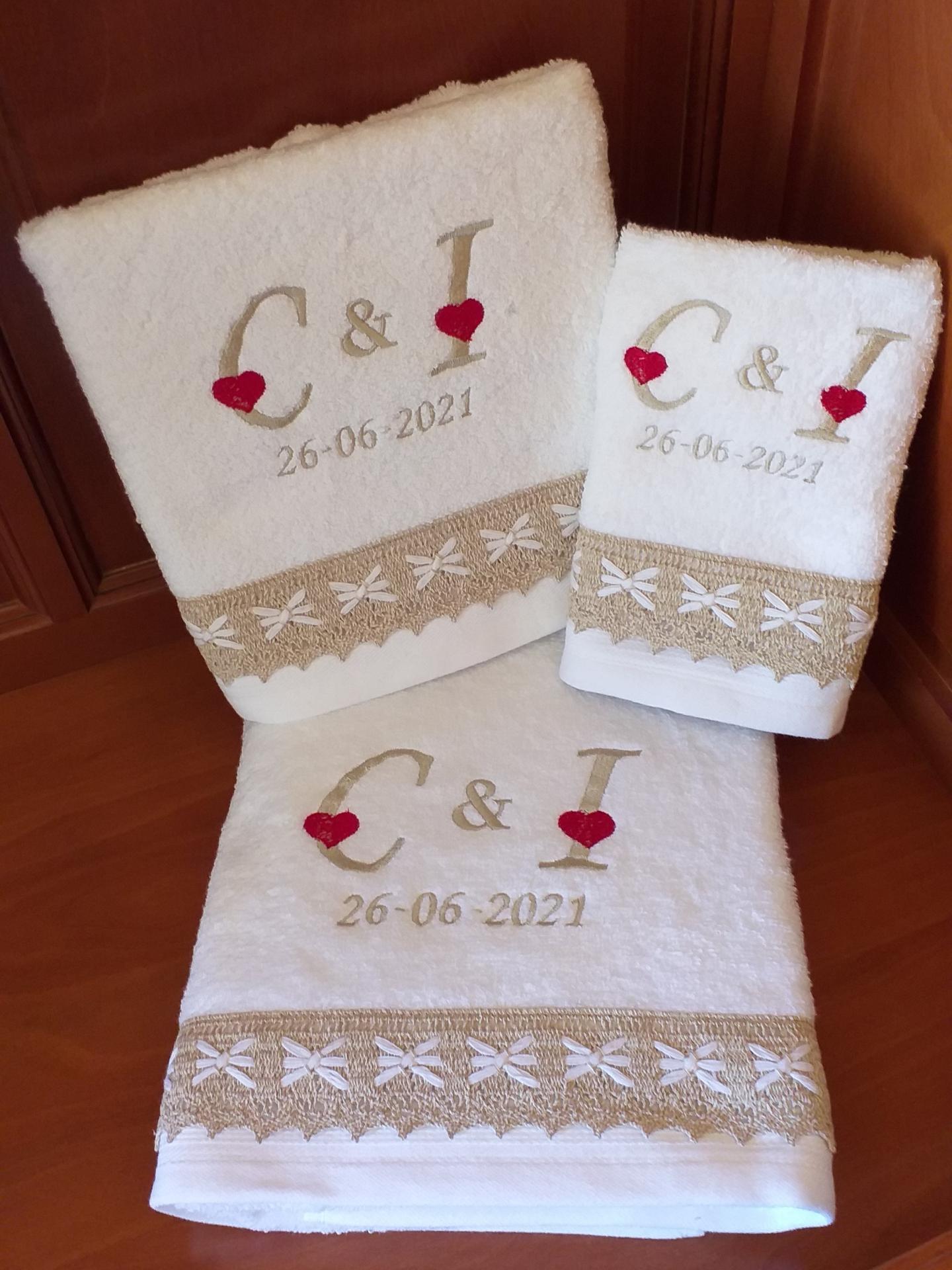 Juego de toallas boda