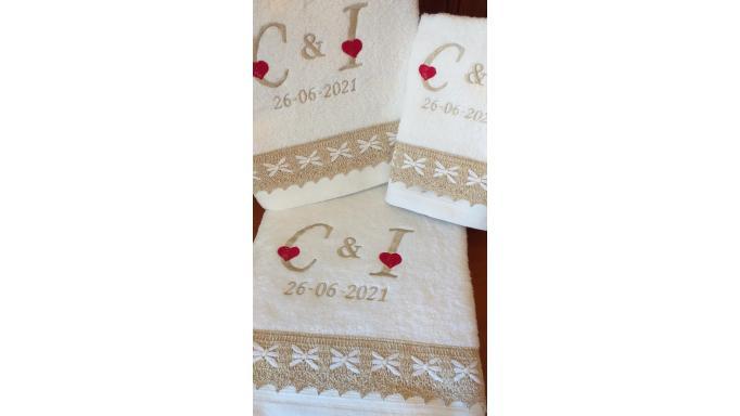 Juego de toallas boda [1]
