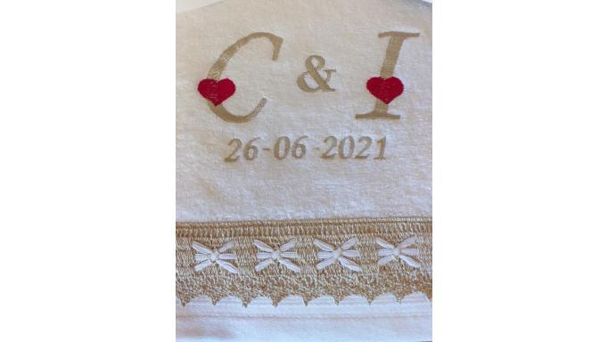Juego de toallas boda [2]