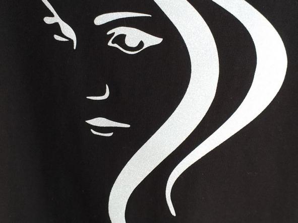 Camiseta Lady glitter blanco. [1]