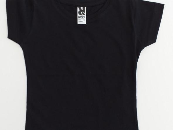 Camiseta negra niña