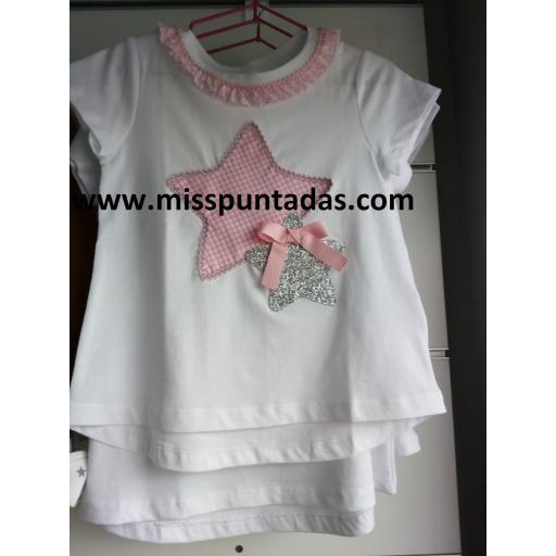 Camiseta Estrella rosa