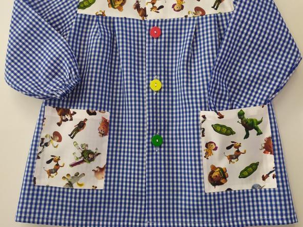 Bata Toy Story vichy azulón