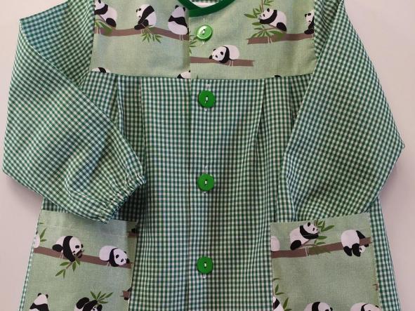 Bata Pandas vichy verde hierba