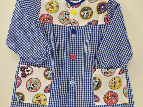 Bata Mickey vichy azulón. [1]