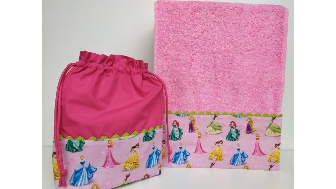 Toalla - Bolsa Princesas Disney