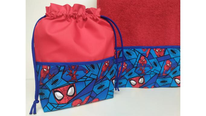 Toalla - Bolsa Spiderman