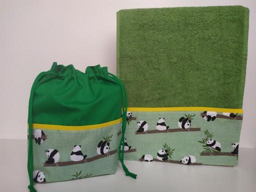Toalla - Bolsa Pandas
