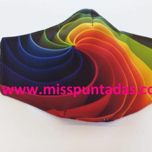 Mascarilla Espiral Multicolor MP-VR