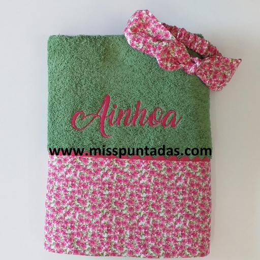 Toalla y Turbante flores Ainhoa