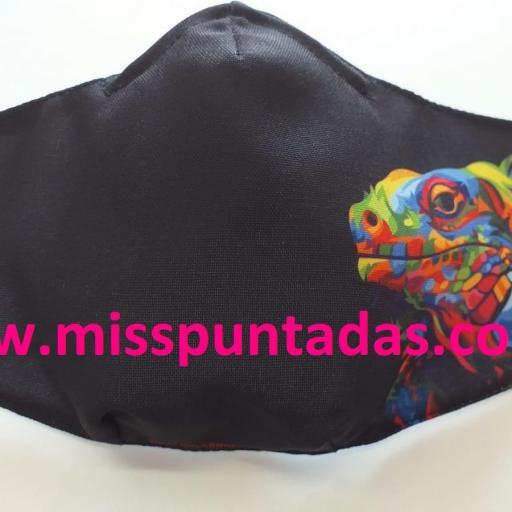 Mascarilla Iguana multicolor MP-VR