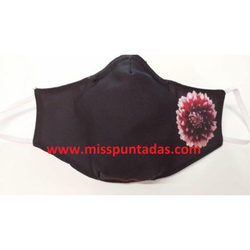 Mascarilla Flor Roja y Blanca MP-VR