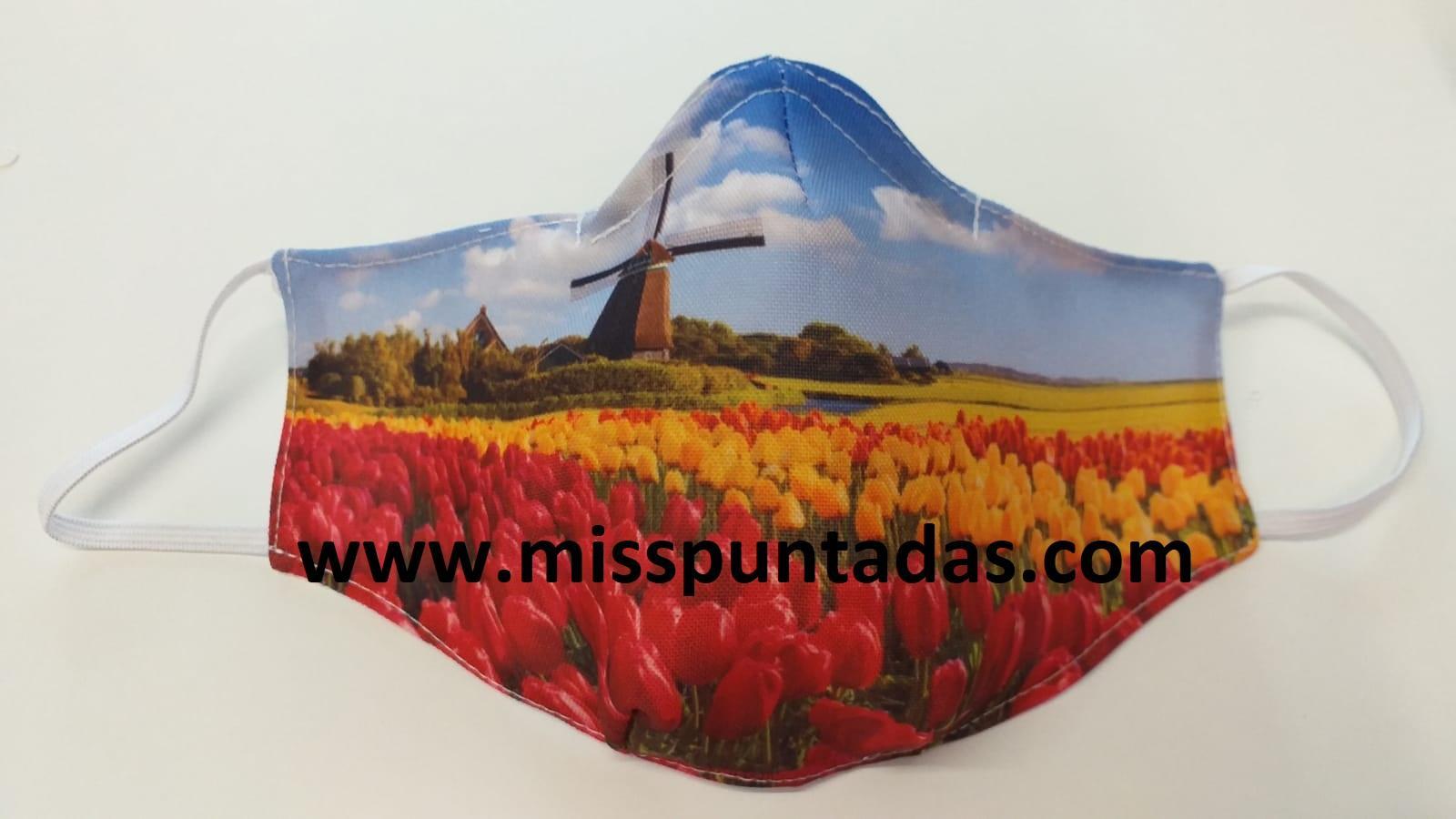 Mascarilla Campo de Tulipanes MP-VR