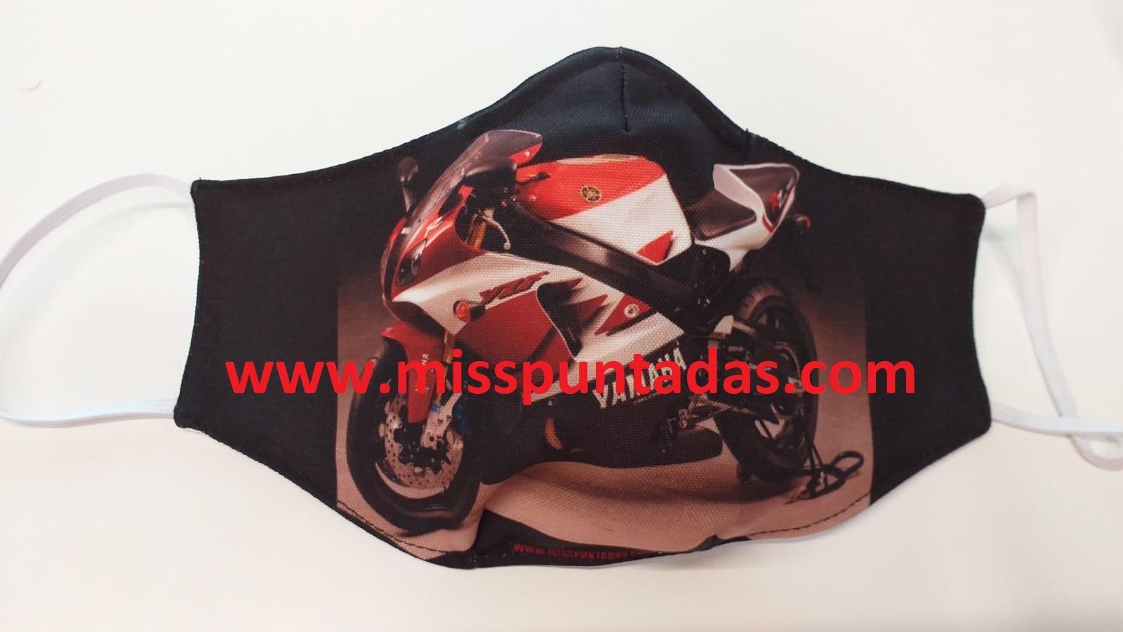 Mascarilla Moto Yamaha hacia la izquierda MP-VR
