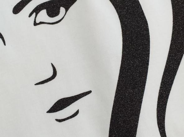 Camiseta Lady glitter negro [2]