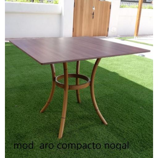 Mesa modelo aro acabado bambú.