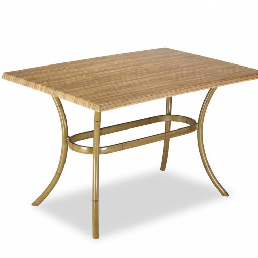 Mesa modelo aro acabado bambú. [3]
