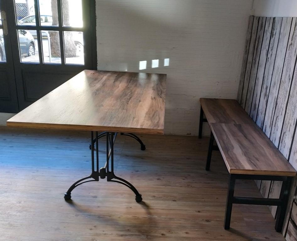 Mesa modelo café rectangular