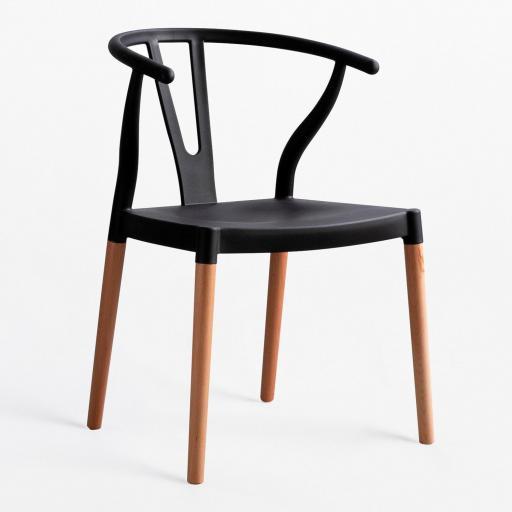 sillón Shangai  pata madera