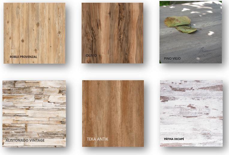 Compacto imitación maderas vintage