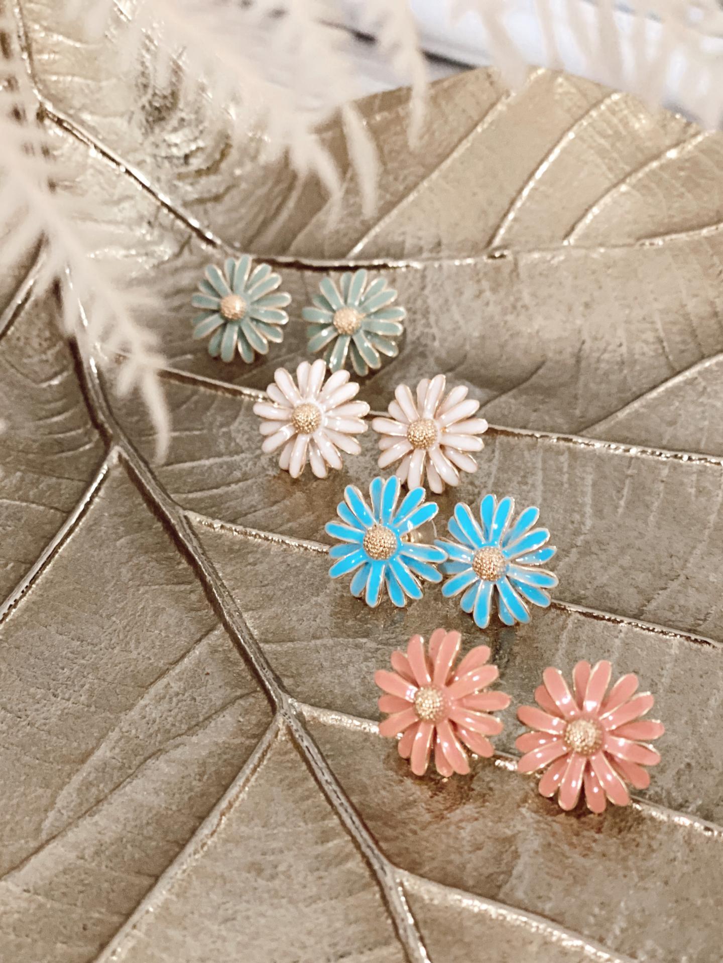 Pendientes Nácar Flor