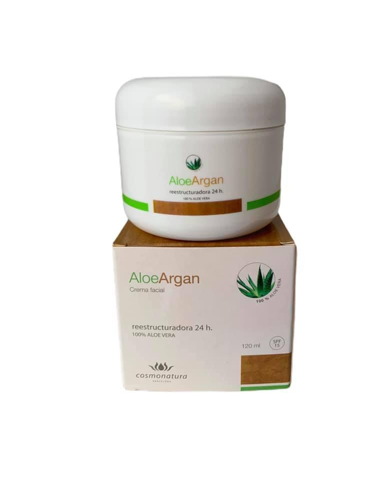 Crema reestructuradora con aloe vera y aceite de argán (120ml)