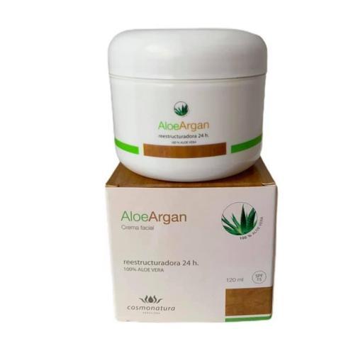 Crema reestructuradora con aloe vera y aceite de argán (120ml) [0]