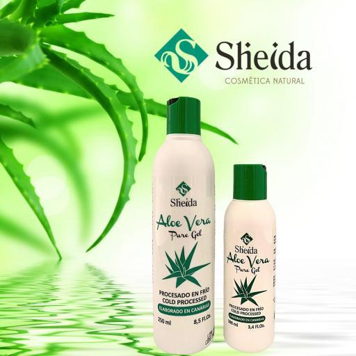Gel de aloe vera puro (250ml) Sheida [3]