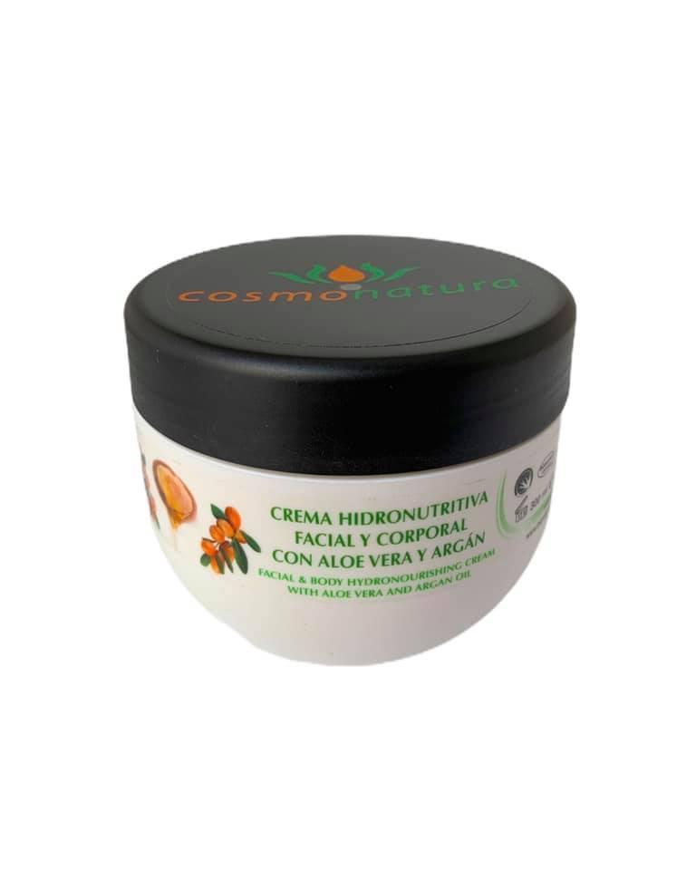 Crema hidronutritiva facial y corporal aloe-argán 300ml