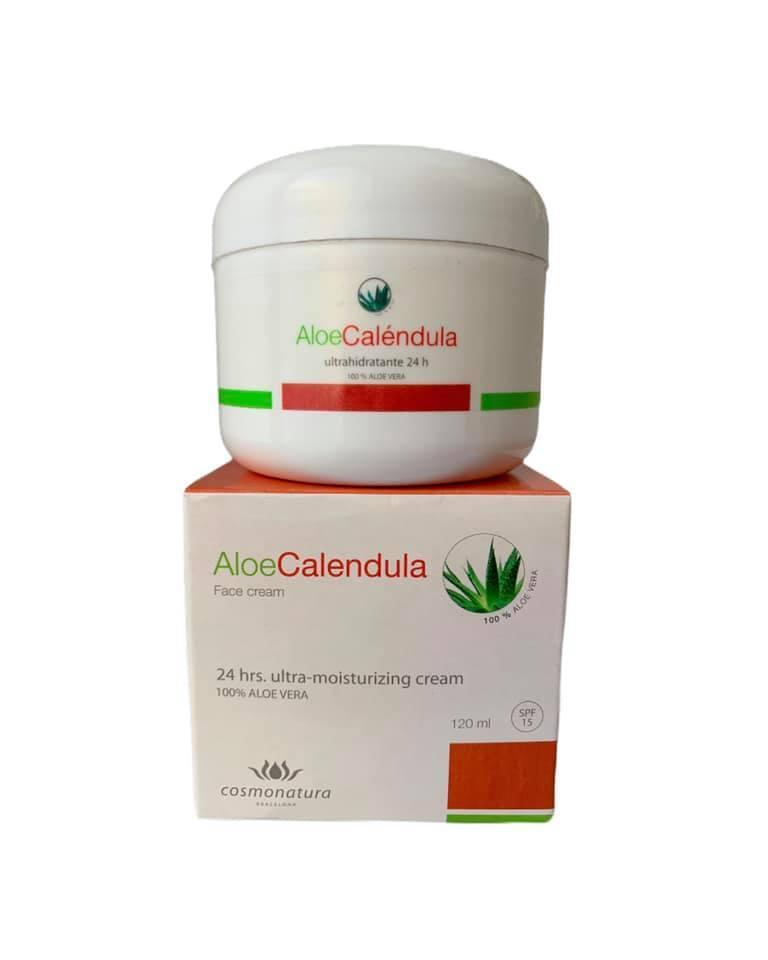 Crema ultra hidratante con aloe vera y caléndula FPS15 (120ml)