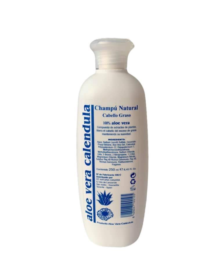 Champú cabello graso con aloe vera y caléndula (250ml)