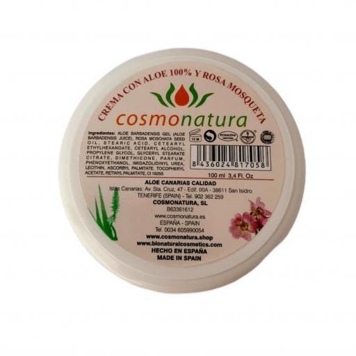 Crema super hidratante con aloe vera y rosa mosqueta (100ml)
