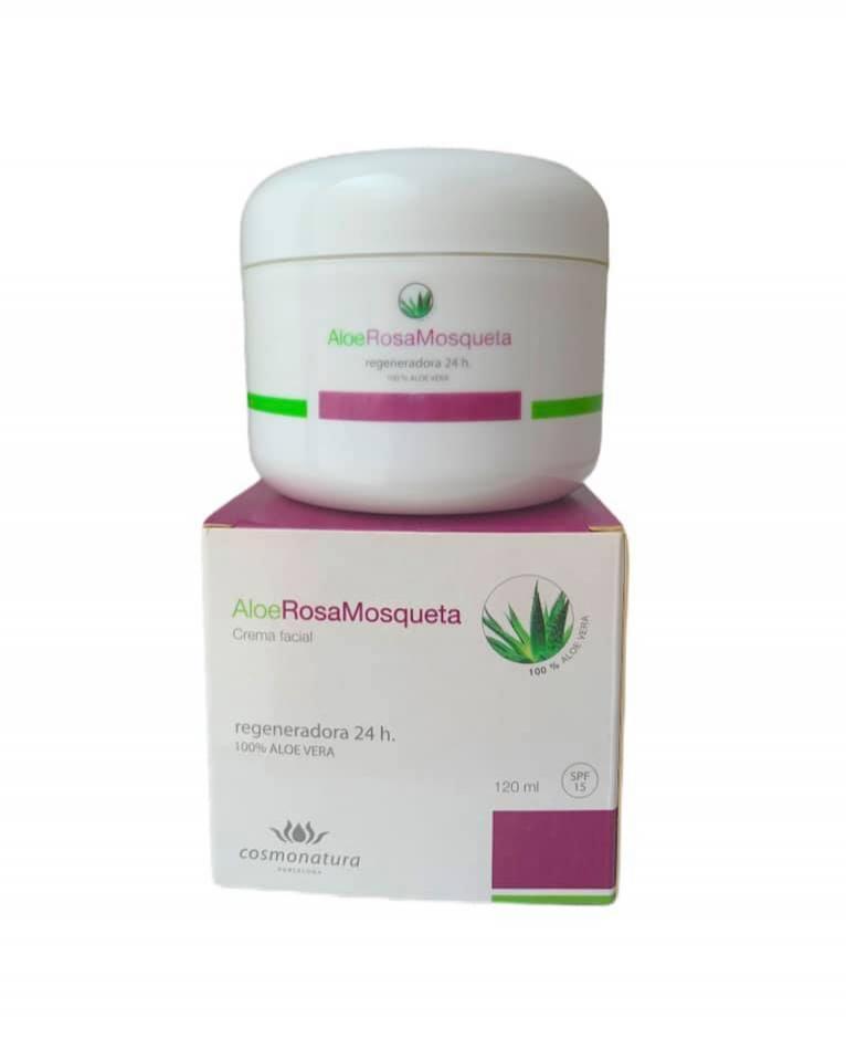 Crema regeneradora con aloe vera y rosa mosqueta FPS15 (120ml)