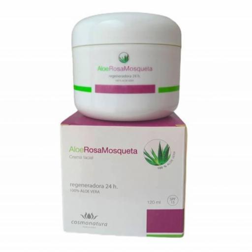 Crema regeneradora con aloe vera y rosa mosqueta FPS15 (120ml) [0]