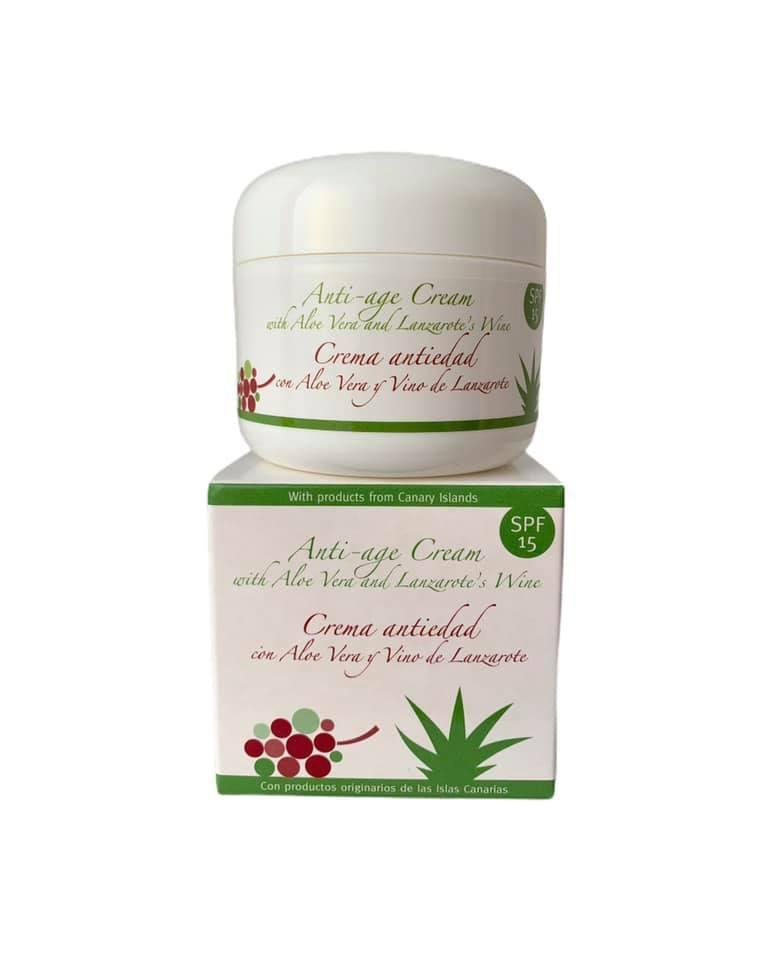 Crema antioxidante con aloe vera y vino de Lanzarote FPS15 (100ml)