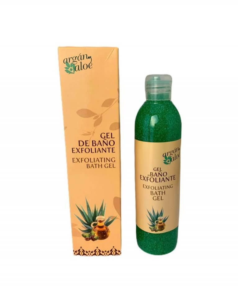 Gel de baño exfoliante con aloe vera y aceite de argán (250ml)