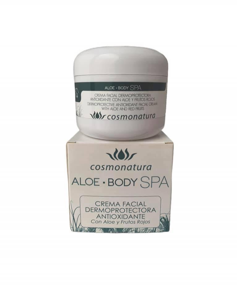 Crema facial dermoprotectora antioxidante con aloe y frutos rojos (100ml)