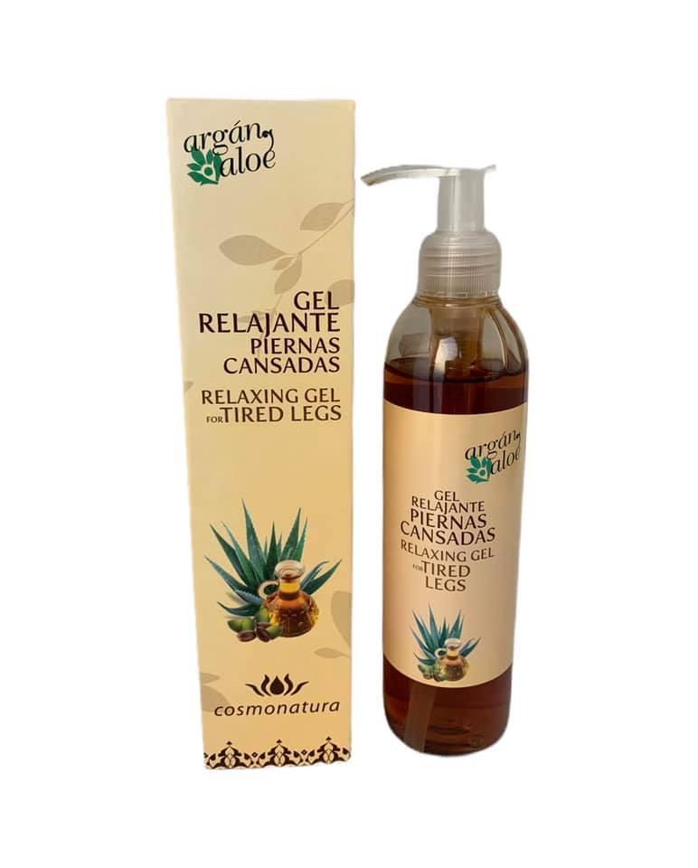 Gel relajante para piernas cansadas con aloe vera y aceite de argán (250ml)