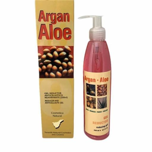 Gel reductor anticelulítico con aloe vera y aceite de argán (250ml)