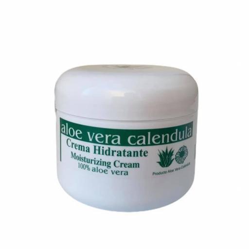 Crema facial hidratante con aloe vera y caléndula  (100ml)