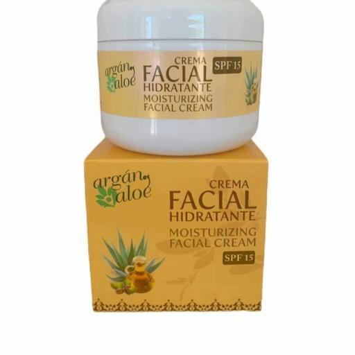 Crema facial hidratante argán y aloe (100ml)
