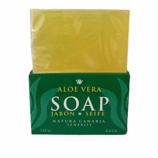 Jabón con aloe vera (125grs)