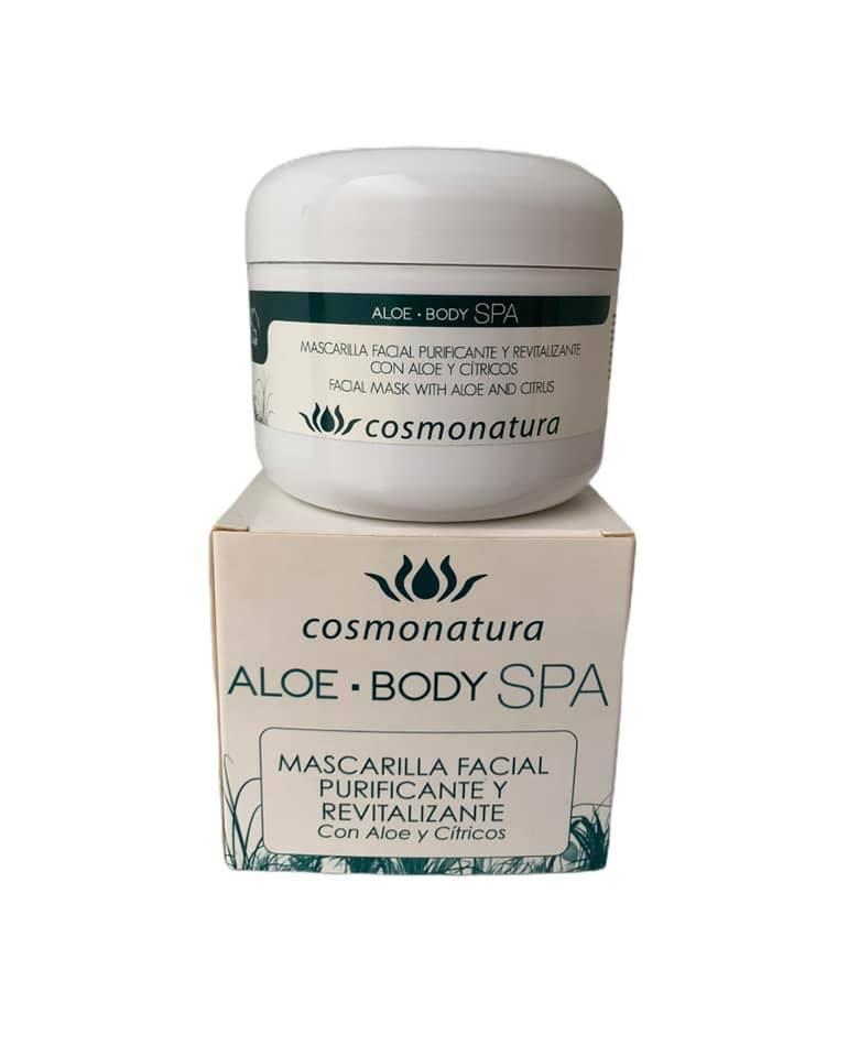 Mascarilla facial purificante y revitalizante con aloe vera y cítricos (100ml)