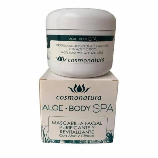 Mascarilla facial purificante y revitalizante con aloe vera y cítricos (100ml)  [0]