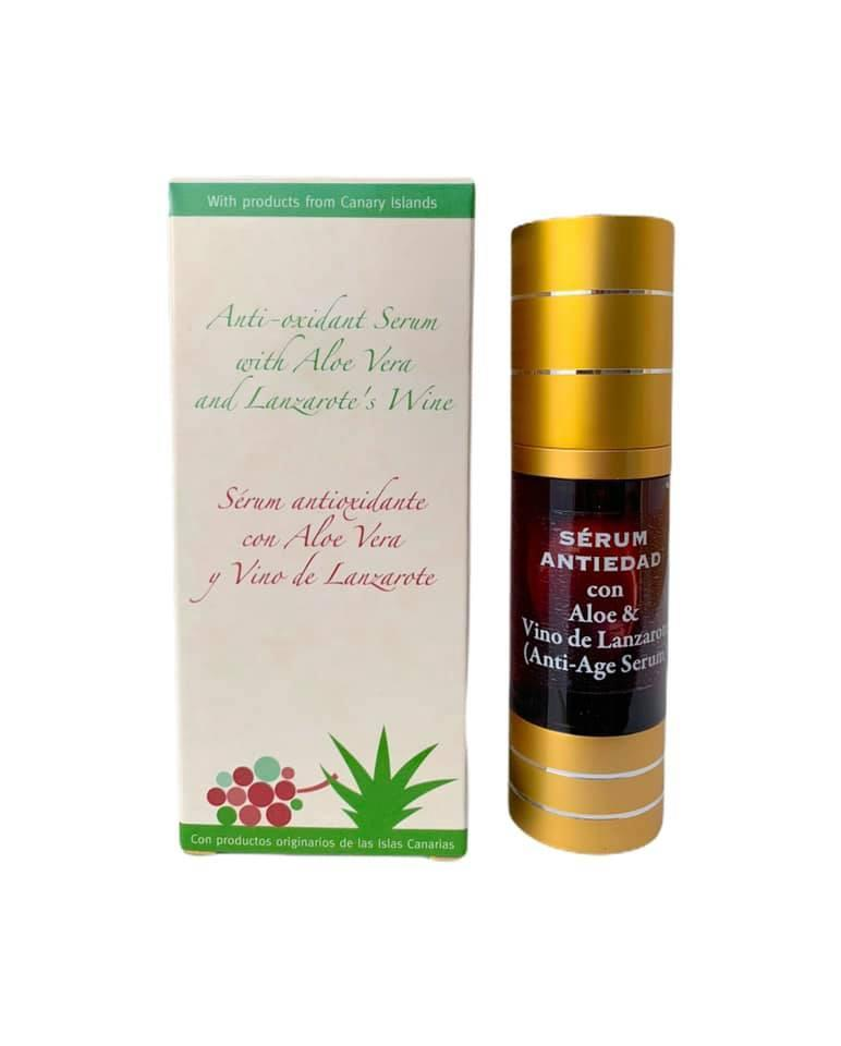 Serum anti oxidante con aloe vera y vino de Lanzarote (35ml)